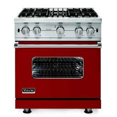 Manufactured in the Mississippi delta, Viking's ranges are standouts for both style and performance. The fire-engine red VDSC530B-SS ($4,999) was our top pick for a dual-fuel model in our last test. #madeinamerica #viking #ranges