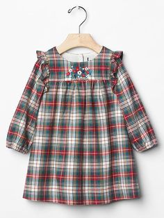 Floral flannel dress Product Image - Apocalypse Now And Then Frocks For Girls, Little Girl Dresses, Girls Dresses, Toddler Dress, Baby Dress, Toddler Fashion, Kids Fashion, Moda Kids, Flannel Dress
