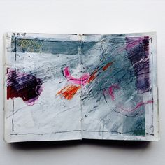 As my own approach to painting abstract art has changed over the last year, this has left me wondering where sketchbooks fit in with the whole picture… If sketchbooks help to plan alternatives, test compositions and colours, how does this fit in with a process where all that discovery, that excavation, happens on the canvas …