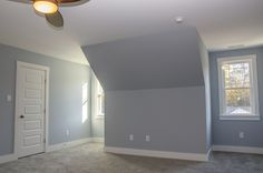 Master bedroom with #lightblue walls #Balducci Builders, Inc.