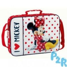 Pasta Escolar Minnie Love Mickey