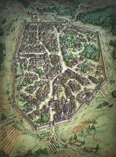 El Descanso del Escriba: Guide to creation and depiction of fantasy cities,...
