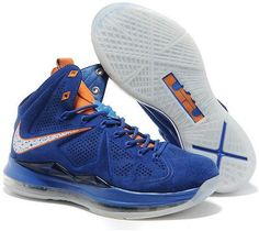 http://www.asneakers4u.com Nike Lebron 10 2013 Official Correct Version Blue White Running Shoes