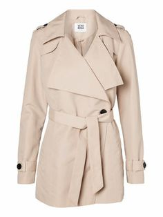 TRENCH COAT in Stocking Beige - different from the usual ones - veromoda Trench, Spring Summer, Summer 2014, Stockings, Beige, My Style, Coat, Jackets, Shopping