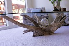 Driftwood Glass Table at Noll's Pleasant Hill, Oregon Home