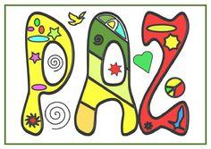 Materiales para trabajar el día de la PAZ. en esta ocasión son unas imágenes en A3 y A4 para que nuestros alumnos las puedan colorear y con ellas podemos decorar … Cause And Effect, World Peace, Love Messages, Lululemon Logo, Social Studies, Peace And Love, Logos, Anime, Fictional Characters