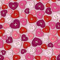 Паттерны ко Дню св. Валентина - Векторный клипарт | Valentine seamless pattern - Stock Vectors