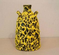 Fat Yellow Lava Vase ES Keramik 60er 70er_________________rar midcentury pottery