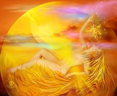 Solar Plexus Goddess Your color yellow Radiating warmth and the energy of emotions Helping me with my identity and self esteem Your element fire Keeping my inner power burning with Honesty, self respect, responsibility, courage And healing balance.  Solar Plexus Goddess prose by Carol Cavalaris