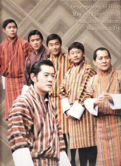 King Jigme Singye Wangchuck with his sons