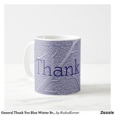 Shop General Thank You Blue Winter Branches Pattern Coffee Mug created by KudosKorner. Unique Trees, Winter Trees, Appreciation Gifts, Personalized Mugs, Thank You Gifts, Tree Branches, Textured Background, Drinkware, Funny Jokes