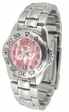 Utah Valley State (UVSC) Wolverines Ladies Sport Watch with Steel Band and Mother of Pearl Dial by SunTime. $74.55. This handsome, eye-catching watch comes with a stainless steel link bracelet. A date calendar function plus a rotating bezel/timer circles the scratch resistant crystal. Sport the bold, colorful, high quality Utah Valley State (UVSC) Wolverines logo with pride.The hypnotic iridescence of our natural blush mother of pearl combined with the sparkling brillianc...
