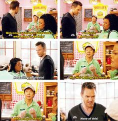 "Chang-Kevin: ""What are you having?"" Jeff: ""None of this!"" #Community"