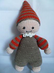 Pattern by lilleliis. Easter Crochet Patterns, Crochet Patterns Amigurumi, Amigurumi Doll, Crochet Dolls, Baby Patterns, Crochet Baby, Diy Crafts Crochet, Cute Baby Dolls, Diy Doll
