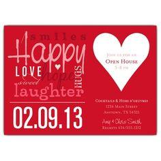 Festive collage Valentine's Day party invites!