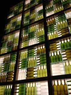 wine bottle wall -