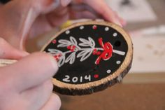 Chalkboard Wood Slice Ornaments