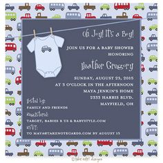 Car themed baby shower  for boy