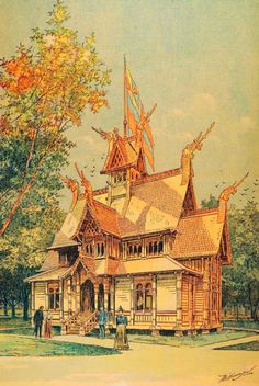 Norwegian Building at the 1893 Chicago World's Fair (1893)