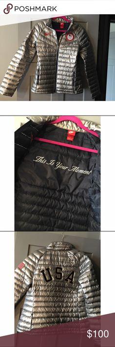 Nike 2014 Women's USA Winter Olympics Jacket 2014 Winter Olympics USA Jacket- women's. Worn once. Nike Jackets & Coats Puffers