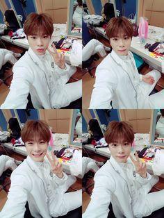 Aww... Moonbin oppa looks cute in the white school uniform!