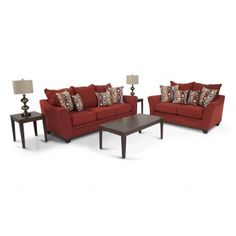 The Delish 7 Piece Livingroom Set Is Simply Delectable! In Your Choice Of  Red Or Chocolate, This Trendy Living Room Set Is Sure To Bring A Cool U0026 Cu2026