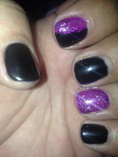 #GelNails #glitter #DIY #Gelish #IBD #Bluesky #NailArt #AccentNail