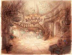 Concept art - backgrounds © Tangled