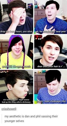 I like how Dan is so pissed with his past self while Phil is like just mildly disappointed ❤
