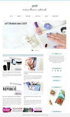 More Than Adored is your one stop online destination for all things beauty, fashion and lifestyle related. Using Lynette Feminine WordPress Theme from Bluchic