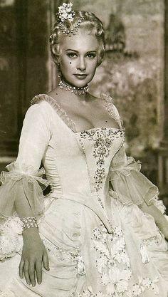 "Martine Carole - "" La Comtesse du Barry "" (1954) - Costume designers : Marcel Escoffier & Monique Plotin"