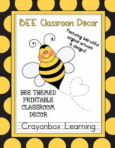 Bee Themed Classroom | Bee Theme Classroom Decor Kit by CrayonboxLearning on Etsy