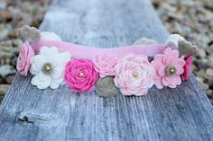 Felt Flower Crown  Flower Girl Headband  First by LaLaLolaShop, $35.00