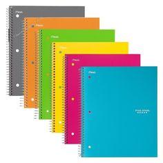 College Ruled Spiral Notebook 1 Subject 100 Sheets School Supplies Notebooks  #FiveStarCollegeRuledSpiralNotebook