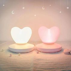 USB Rechargable Heart Light for Wedding Decoration Home Bedroom LED Romantic Atmosphere Night Lamp Valentine's Day Gifts Pro – GoodAli Cute Night Lights, Led Night Light, Pastel Room, Kawaii Room, Cute Room Decor, Night Lamps, Aesthetic Rooms, Home Decor Accessories, Valentine Gifts