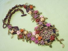 Window Upon Her World Beadwoven Necklace