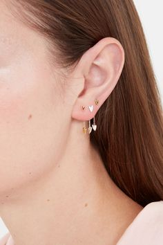 Heart Beat Long Earring Backs, Rose Gold Tiny Heart, Heart Beat, Heart Earrings, Stud Earrings, Pall Mall, Cleaning Silver Jewelry, Queen Of Hearts, Earring Backs, In A Heartbeat