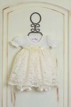 Katie Rose Ivory Lace Baby Girls Dress ff01200b0