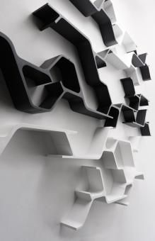 SINAPSI by Horm, 2 Mensole modulare/ 2 Modular shelves - Contattacci prima Shelving Design, Modular Shelving, Shelf Design, Wall Design, House Design, Diy Shelving, Italian Furniture, Home Furniture, Furniture Design