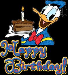 """It's Donald Duck's Birthday! June 1934 the day he debuted in the Silly Symphony cartoon """"The Wise Little Hen. Happy Birthday Qoutes, Happy Birthday Disney, Cute Happy Birthday, Birthday Wishes Funny, Happy Birthday Images, Birthday Greetings, Donald Duck Party, Donald And Daisy Duck, Donald Disney"""