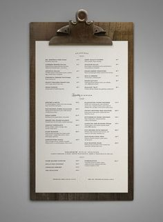 restaurant menu Art of the Menu: 50 Examples of Br -