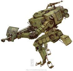 Dieselpunk: Main Battle Walker Mk1 ✤ || CHARACTER DESIGN REFERENCES | キャラクターデザイン…
