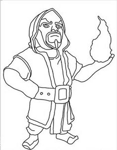 wizard clash of clans coloring pages printable and coloring book to print for free. Find more coloring pages online for kids and adults of wizard clash of clans coloring pages to print. Dessin Clash Of Clans, Clash Of Clans App, Clash Of Clans Troops, Coloring Pages To Print, Coloring For Kids, Colouring Pages, Printable Coloring Pages, Coloring Books, Desenhos Clash Royale