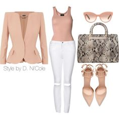 """Untitled #1546"" by stylebydnicole on Polyvore Minus the white pants.."