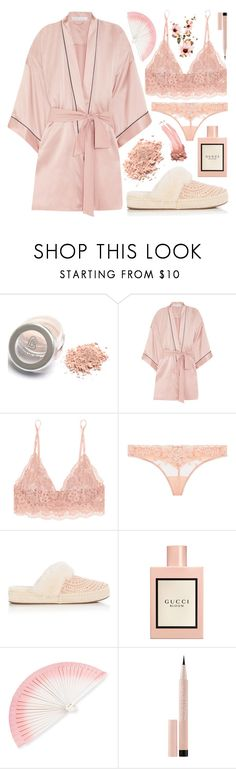 """Sleeping Beauty"" by annsharif ❤ liked on Polyvore featuring Olivia von Halle, Hanky Panky, La Perla, UGG, Gucci, FernFans, Maybelline and Elizabeth Arden"
