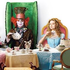 Alice and the Mad Hatter. Their characterizations in the Tim Burton film are interesting, and I find their friendship to be endearing.