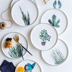 decorbifunow Botanical plate -  Botanical plate  #Botanischer #Plate  - #Artists #botanical #ceramics #ComicsAndCartoons #plate #Pottery<br> Ceramic Plates, Ceramic Pottery, Decorative Plates, Pottery Plates, Clay Plates, Painted Plates, Hand Painted, Ceramic Painting, Ceramic Art