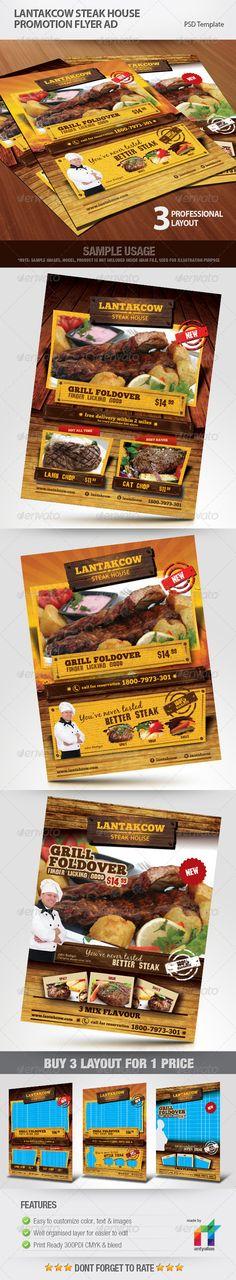 Lantakcow Steak House Menu Brochure By Antyalias  Via Behance