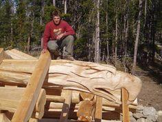 Custom Wood Carvings for log home