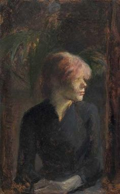 #impressionistiaroma Henri de Toulouse-Lautrec. Ritratto di Carmen Gaudin, 1885, olio su tavola. Collezione Ailsa Mellon Bruce, 1970.17.85